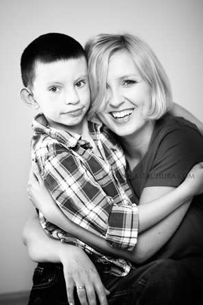 A boy with his mother/ Monika Stachura Photography