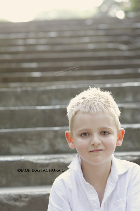 Boy on the stairs/ Monika Stachura Photography